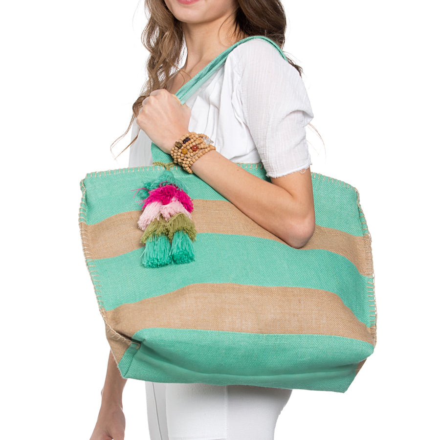 Sea Stripe Beach Tote - Sidney Byron