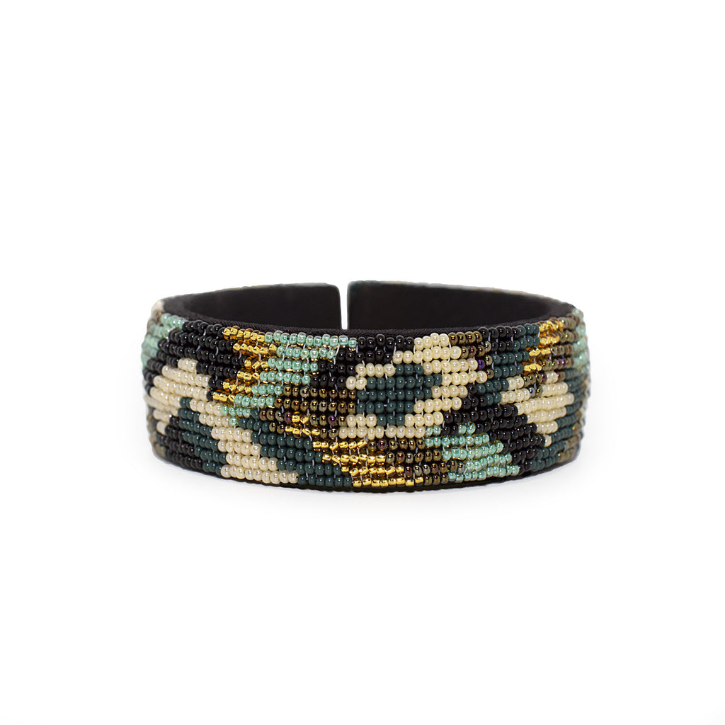 Forest Beaded Camo Cuff - Sidney Byron