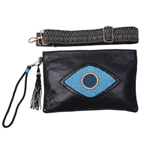 """Lucky Eye"" Ashley Crossbody Bag - Sidney Byron"