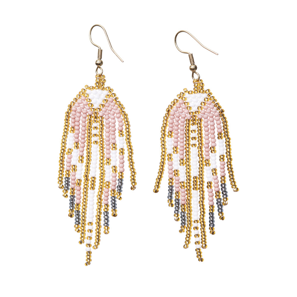 Angel Wings Fringe Earrings - Sidney Byron