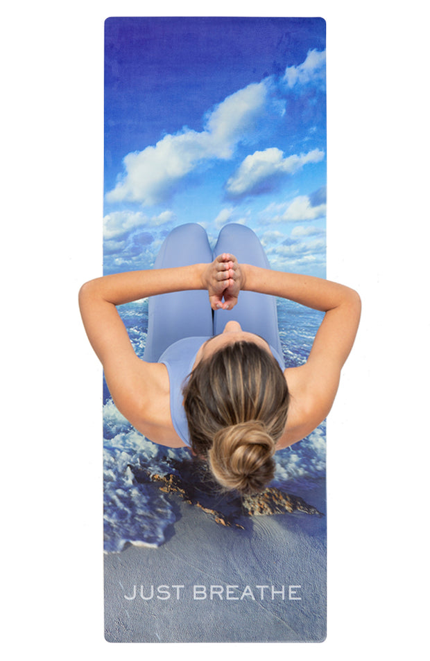 """Nomad Yoga Mat in """"Just Breathe"""" (3MM) 1"""