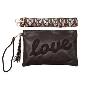 """Love"" Ashley Crossbody Bag - Sidney Byron"