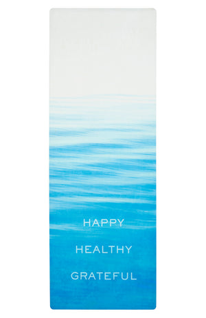 "Nomad Yoga Mat in Ocean Fade ""Happy Healthy Grateful"" (3MM) - Sidney Byron"