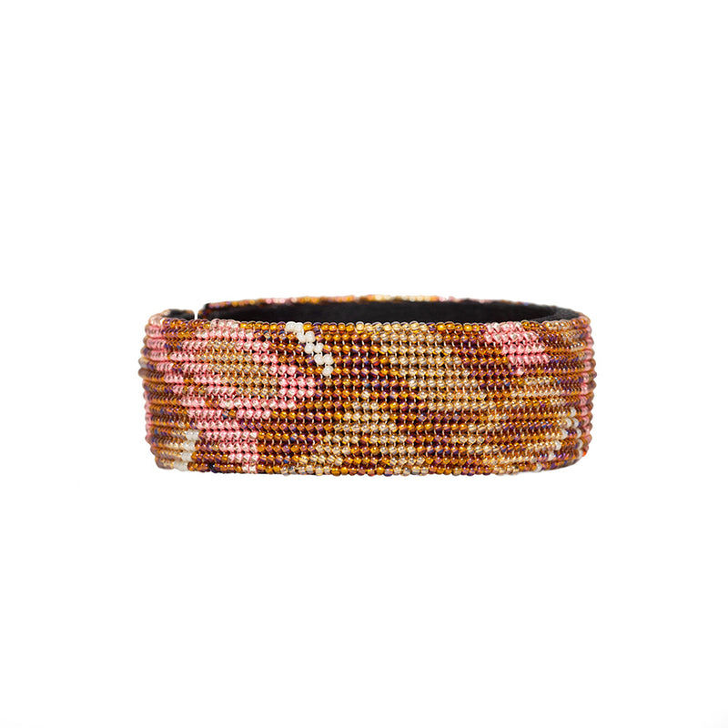 Rose Beaded Camo Cuff - Sidney Byron