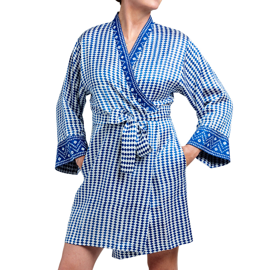 Bali Blue Travel Robe - Sidney Byron