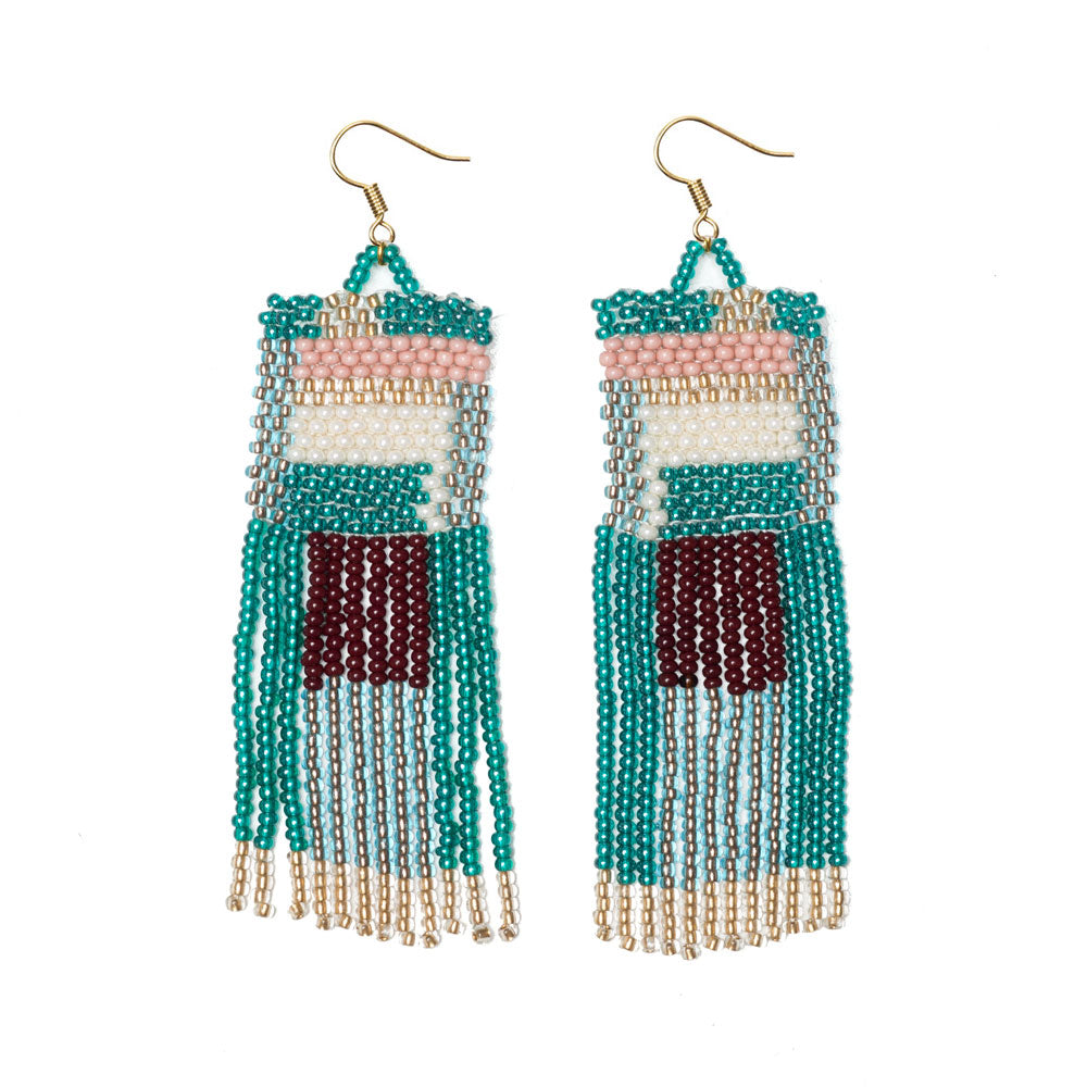 Square Fringe Earrings - Sidney Byron