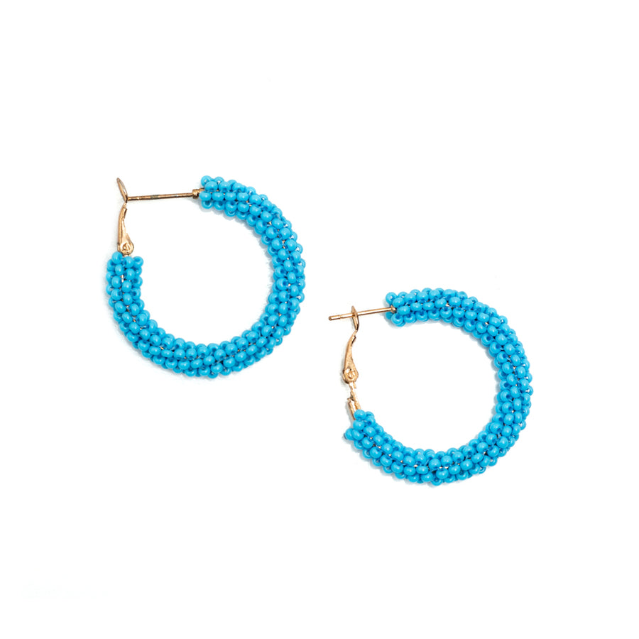 Turquoise Hoop Earrings - Sidney Byron