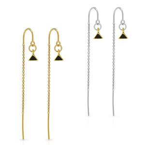 Petite Grand - Arid Thread Through Earrings - Available in Silver + Gold