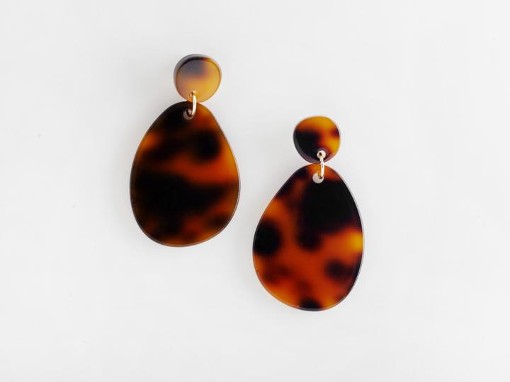 Valet Studio - Pandora Earrings - Tortoiseshell