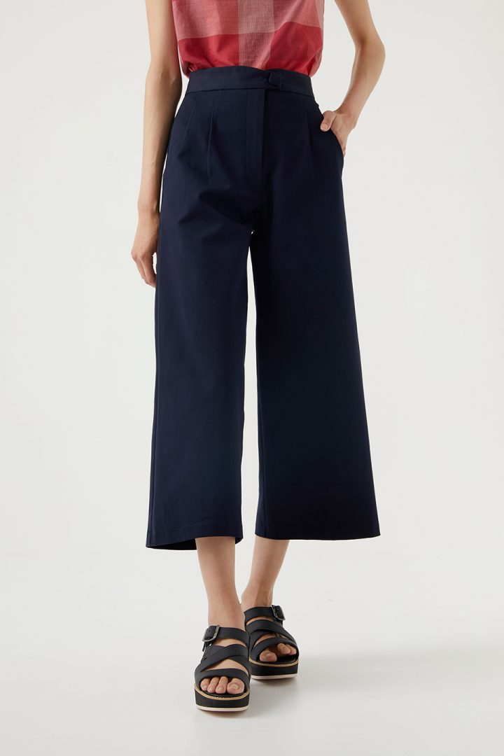 Kuwaii - Wide Leg Pant - Navy