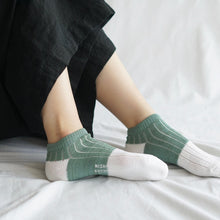 Load image into Gallery viewer, Nishiguchi Kutsushita - Boston Linen Cotton Sock - Available in Charcoal, Yellow + Sage