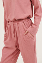 Load image into Gallery viewer, Primness - Cozy Twisty Pant - Lipstick Pink