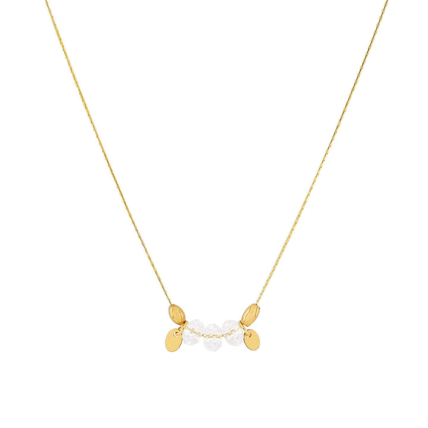 Petite Grand - Crystal Drop Necklace - Gold