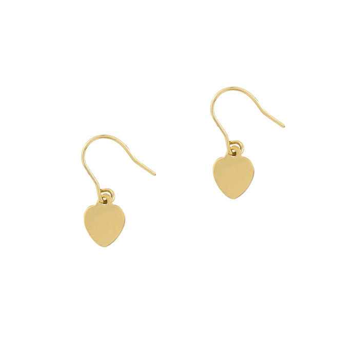 Petite Grand - Little Heart Earrings - Gold