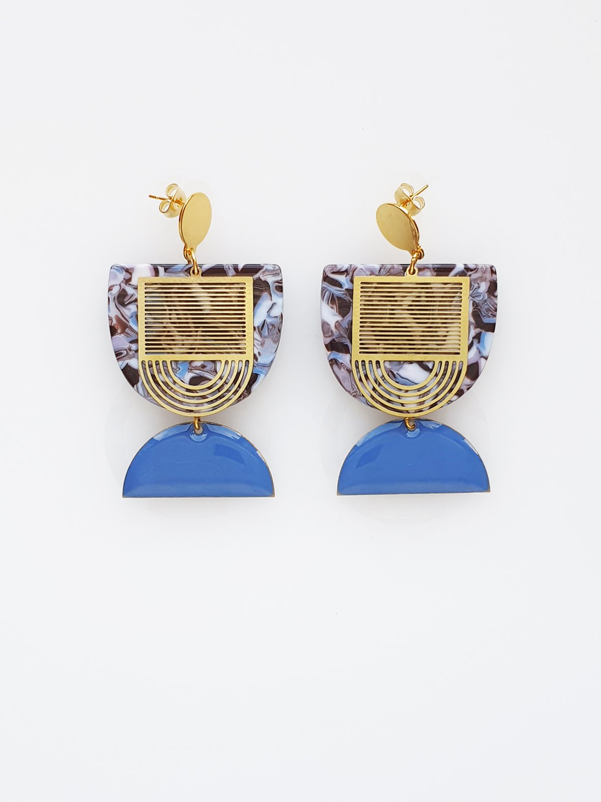 Middle Child - Charleston Earrings - Blue