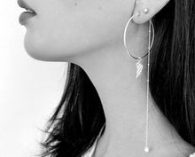 Load image into Gallery viewer, Petite Grand - 30% Off -Super Long Earring - Silver + Gold