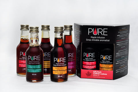 Sample Package of all 5 PURE Infused Maple Syrup