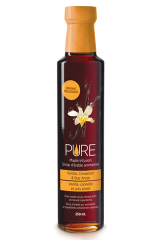 PURE Infused Maple Syrup - Vanilla, Cinnamon & Star Anise