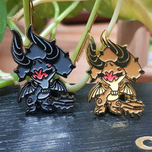 Load image into Gallery viewer, Black Diablos and Diablos Metal Lapel Pins