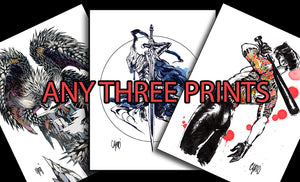 Any Three Prints for $50