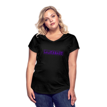 Load image into Gallery viewer, LADYBEAST t-shirt - Women's Tri-Blend V Neck Tee - black