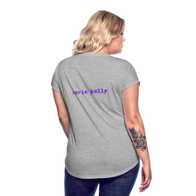 Load image into Gallery viewer, LADYBEAST t-shirt - Women's Tri-Blend V Neck Tee - heather gray