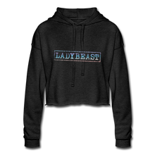 Load image into Gallery viewer, Women's Cropped Hoodie - deep heather