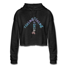 Load image into Gallery viewer, Rainbow Rising Arrow Cropped Hoodie - deep heather