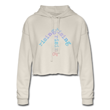 Load image into Gallery viewer, Rainbow Rising Arrow Cropped Hoodie - dust