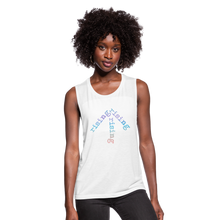 Load image into Gallery viewer, Rainbow Rising Arrow Women's Flowy Muscle Tank - white