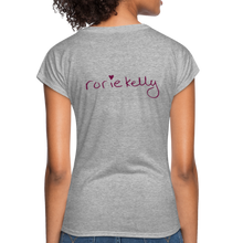 Load image into Gallery viewer, Miss Me With Your Misogyny V-Neck Women's Tee - Burgundy Lettering - heather gray