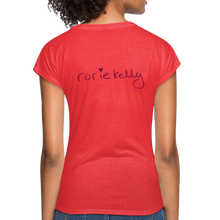 Load image into Gallery viewer, Miss Me With Your Misogyny V-Neck Women's Tee - Burgundy Lettering - heather red