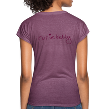 Load image into Gallery viewer, Miss Me With Your Misogyny V-Neck Women's Tee - Burgundy Lettering - heather plum