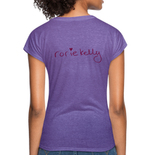 Load image into Gallery viewer, Miss Me With Your Misogyny V-Neck Women's Tee - Burgundy Lettering - purple heather