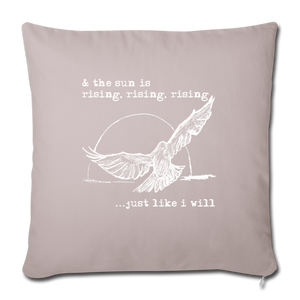 Rising Bird Throw Pillow - light taupe
