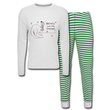 Load image into Gallery viewer, Unisex Pajama Set - white/green stripe