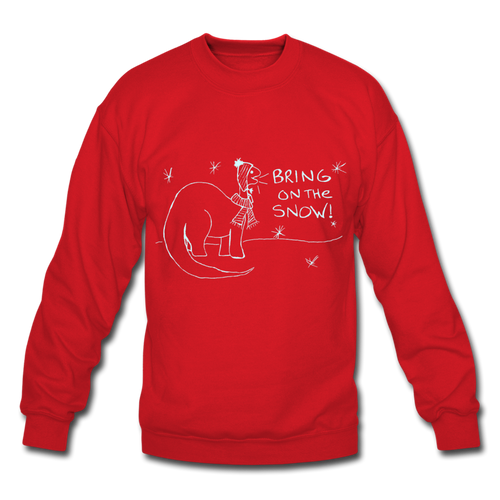 Unisex Bring On the Snow Sweatshirt - red