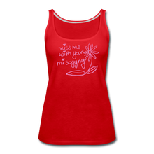 Load image into Gallery viewer, Miss Me With Your Misogyny Women's Fitted Tank (click to see all colors!) - red
