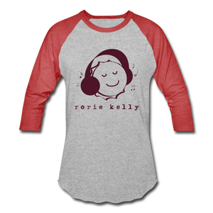 Bottlecap Baseball Tee (Click to see all colors!) - heather gray/red