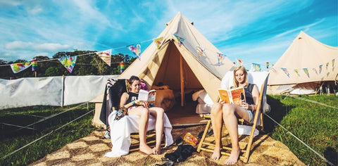 Glamping at Spendour in the Grass