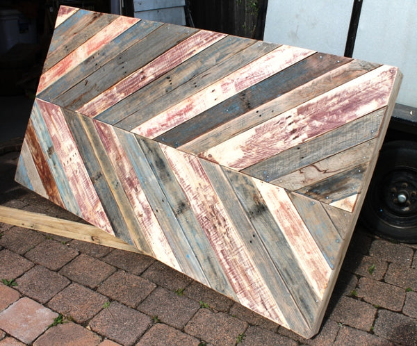 Shop display from pallets