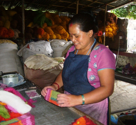 Felt workshop in Nepal