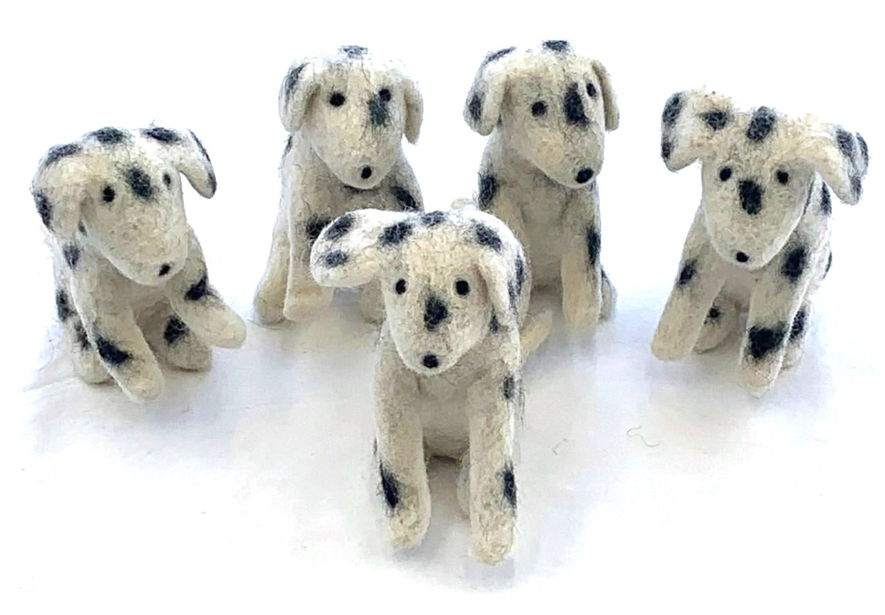 Felt Dalmation Toys from Nepal to help Street Dogs