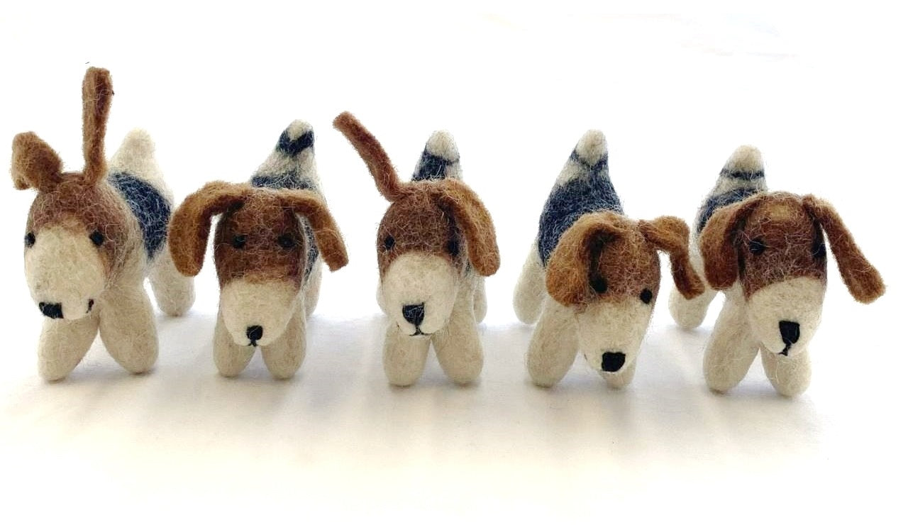 Felt Dogs from Nepal - Our Charity Item