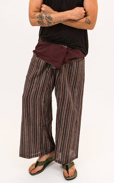 Surya Australia Fisherman Pants Striped Cotton - Brown