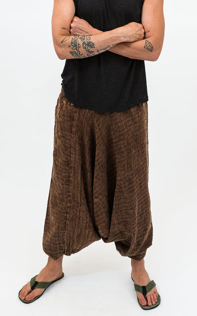 Surya Australia Cotton Aladdin Pants for men - Brown