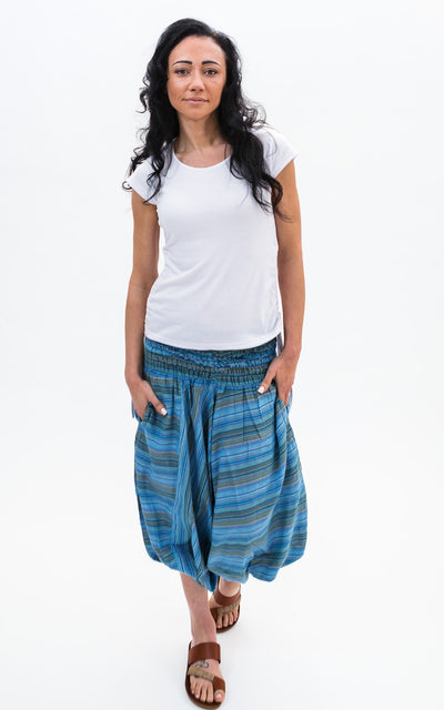 Surya Australia Striped Ali Baba Pants - Blue