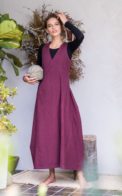 Surya Australia Ethically Made Tibetan Wrap Dress in Jervis Bay