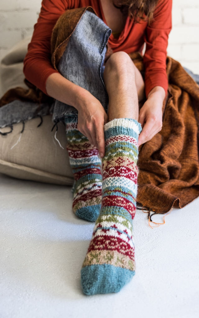 Surya Australia Merino Wool Socks from Nepal - Blue