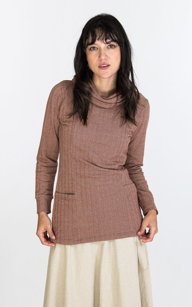 Surya Australia Ethical Organic Cotton Top from Nepal - Maroon